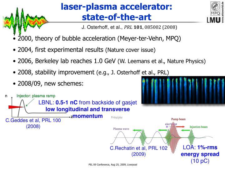 laser-plasma accelerator: