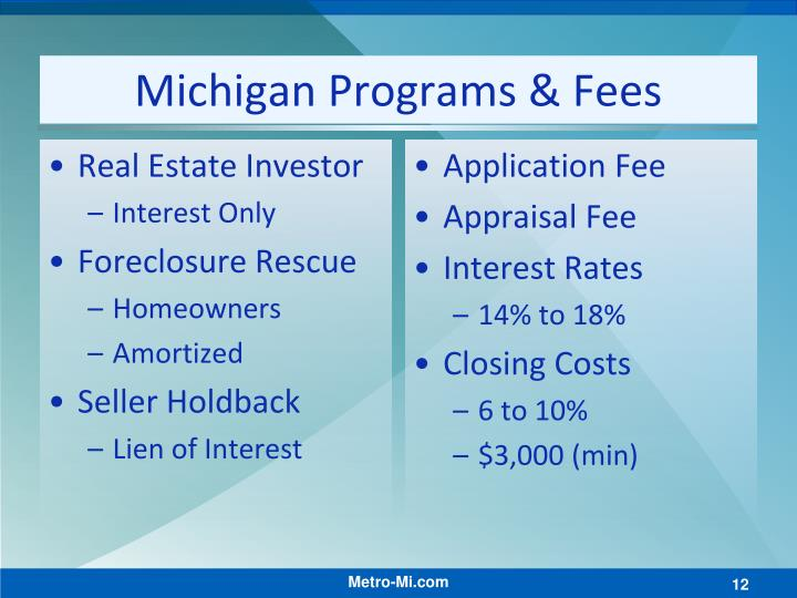 Michigan Programs & Fees