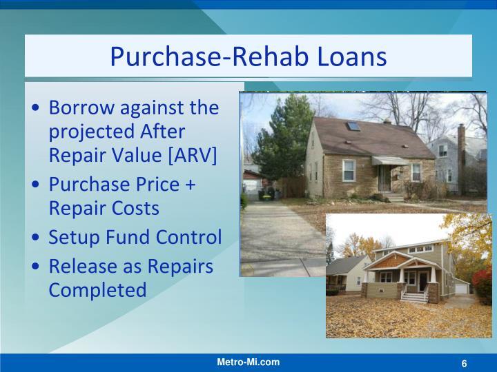 Purchase-Rehab Loans