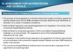 iv assessment for accreditation and schedule3