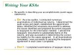 writing your ksas6