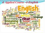 4 applied course i english