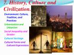 7 history culture and civilization