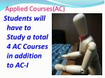 applied courses ac