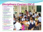 disciplinary courses dc i