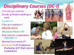 disciplinary courses dc i1