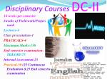 disciplinary courses dc ii1
