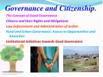 governance and citizenship