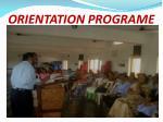 orientation programe