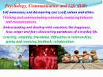 psychology communication and life skills