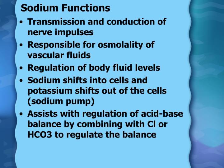 Sodium Functions