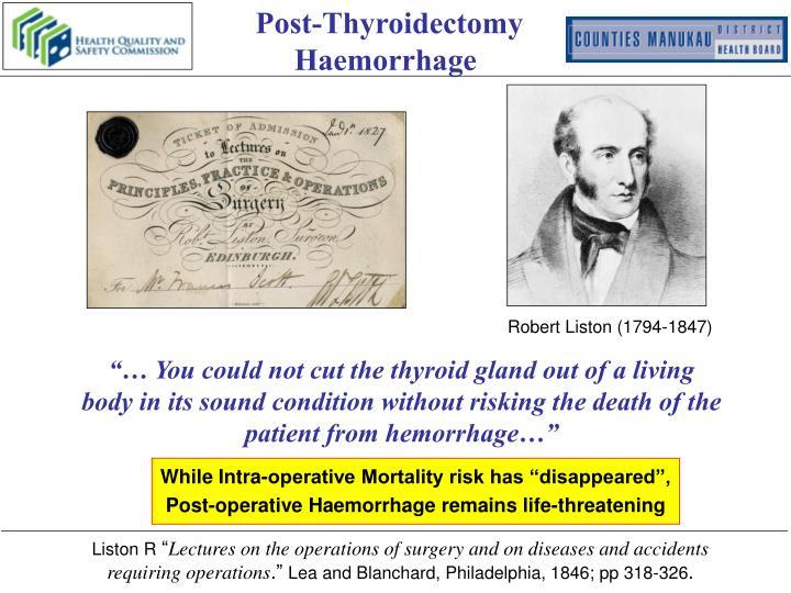 Post-Thyroidectomy Haemorrhage