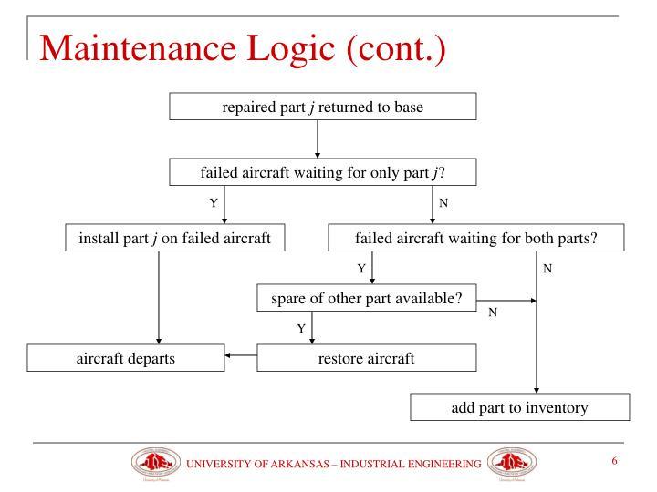 Maintenance Logic (cont.)