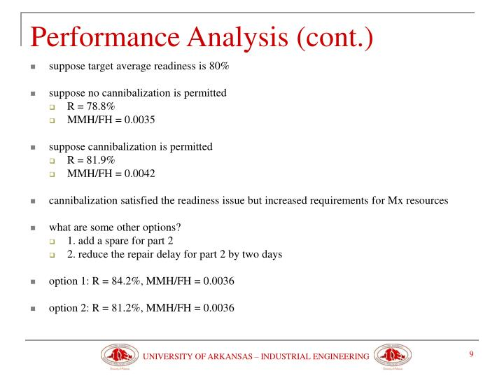 Performance Analysis (cont.)