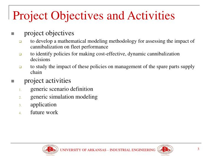 Project objectives and activities