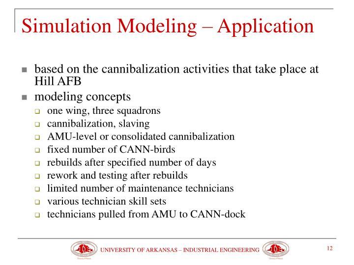 Simulation Modeling – Application