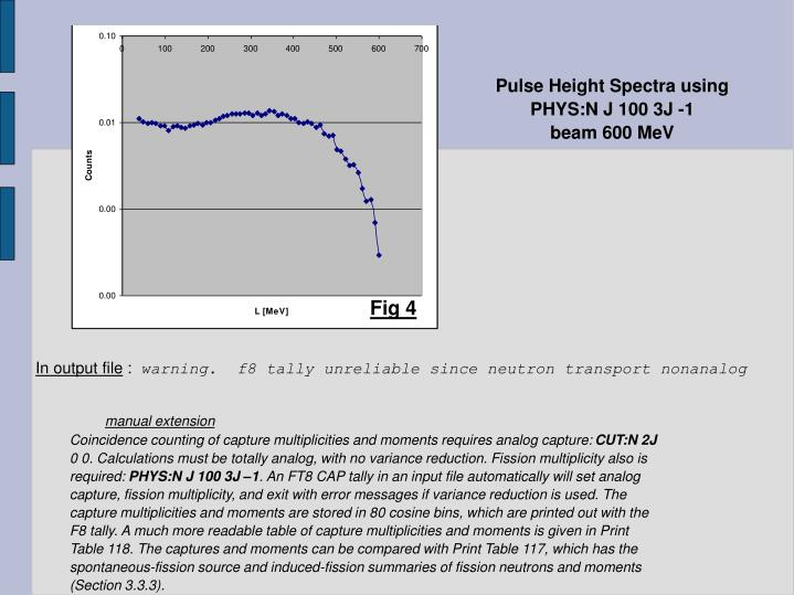 Pulse Height Spectra using