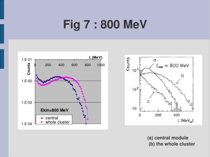 Fig 7 : 800 MeV
