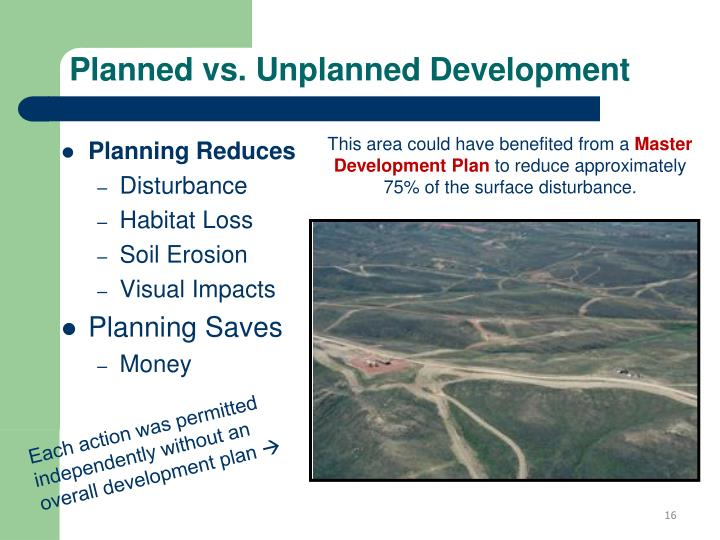 Planned vs. Unplanned Development