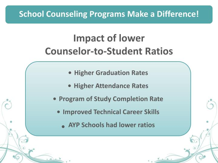 School Counseling Programs Make a Difference!