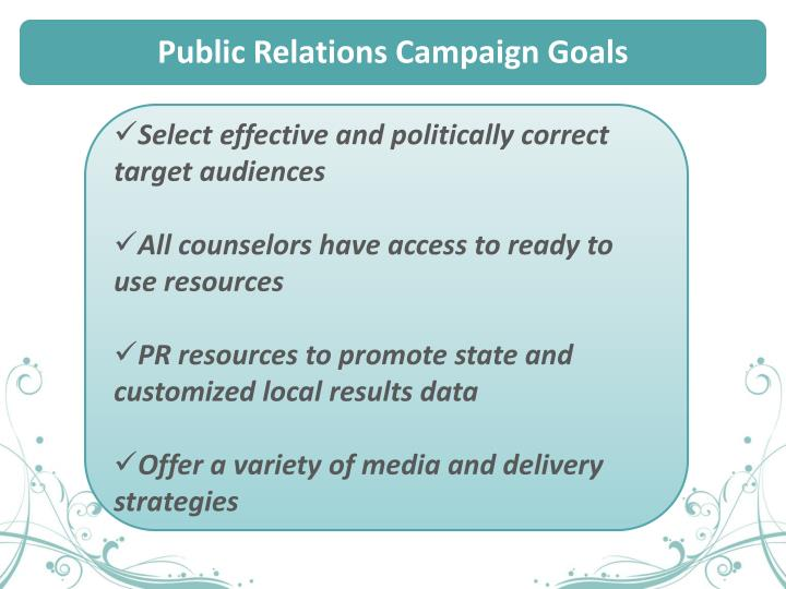 Public Relations Campaign Goals