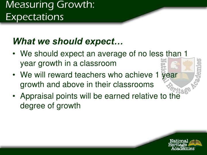 Measuring Growth: Expectations
