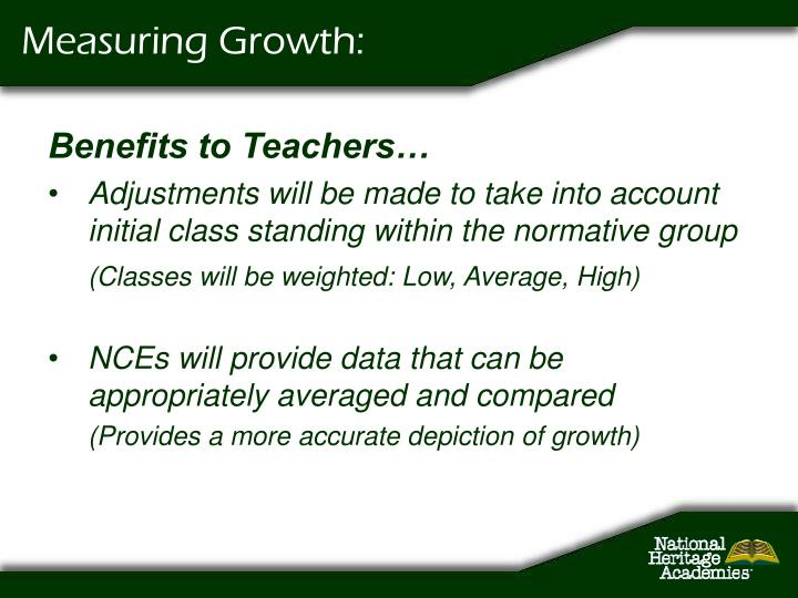 Measuring Growth: