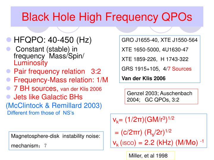 Black Hole High Frequency QPOs