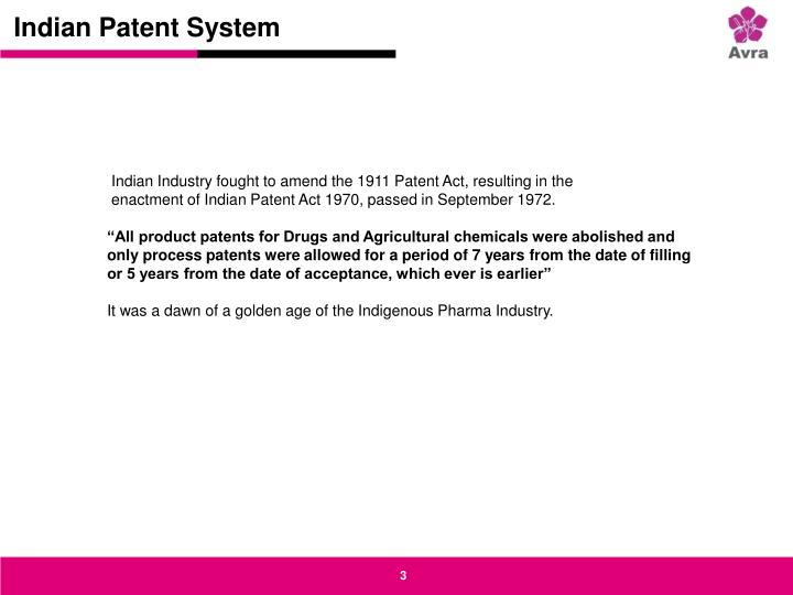 Indian patent system