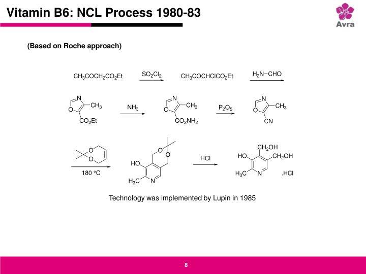Vitamin B6: NCL Process 1980-83