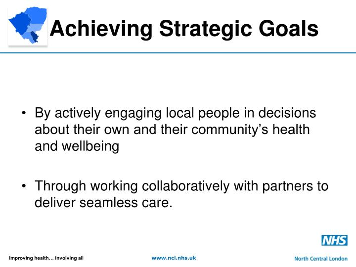 Achieving strategic goals