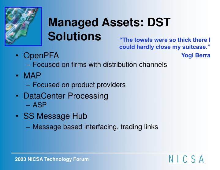 Managed Assets: DST Solutions