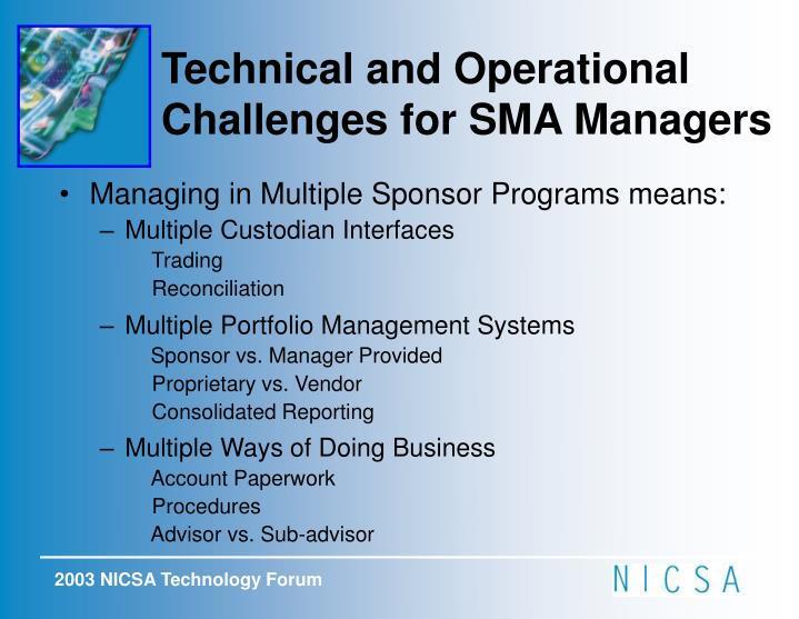 Managing in Multiple Sponsor Programs means: