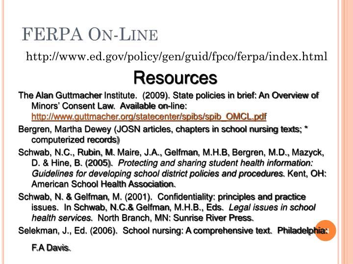 FERPA On-Line