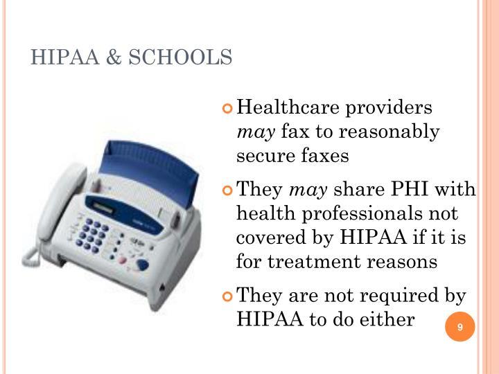 HIPAA & SCHOOLS