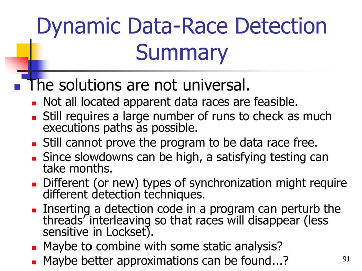Dynamic Data-Race Detection