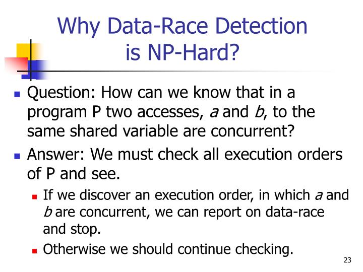 Why Data-Race Detection