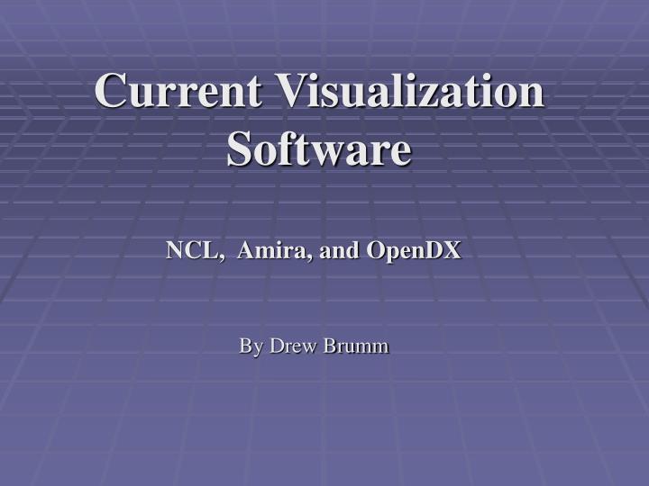 Current visualization software