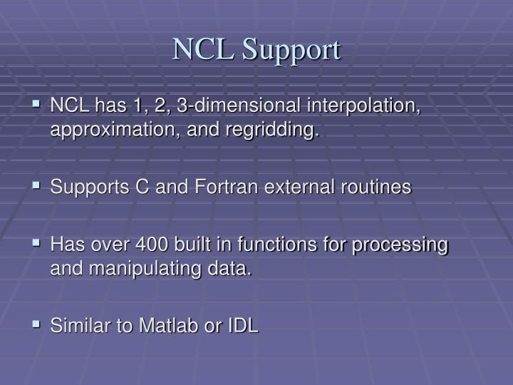 NCL Support