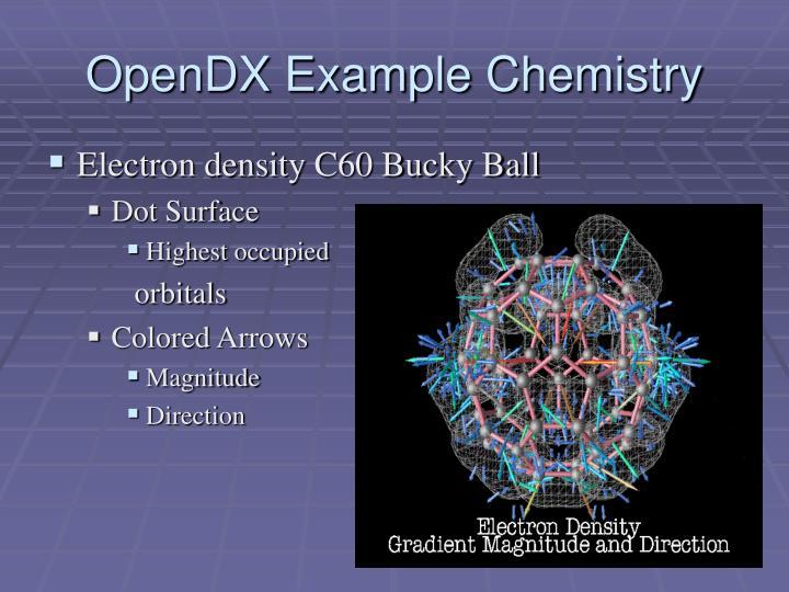 OpenDX Example Chemistry