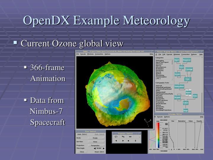OpenDX Example Meteorology