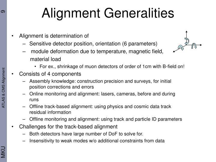 Alignment Generalities