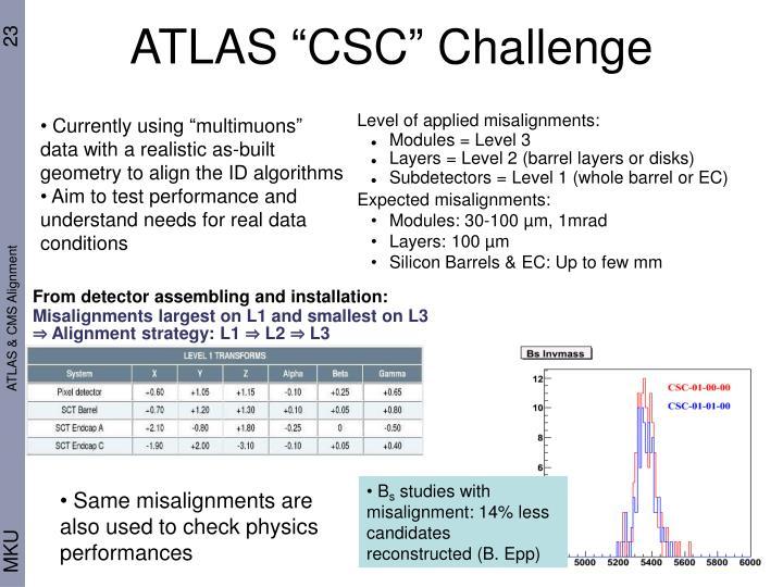 """ATLAS """"CSC"""" Challenge"""