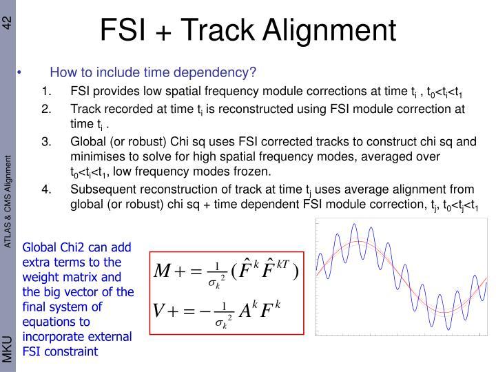 FSI + Track Alignment