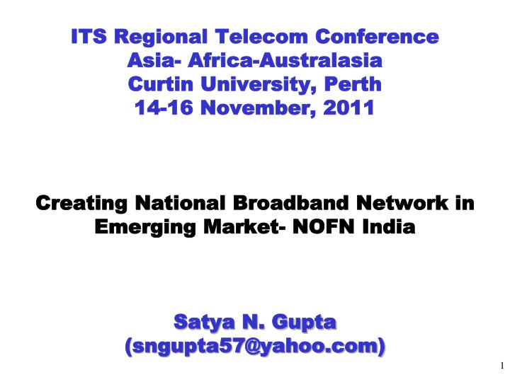 ITS Regional Telecom Conference