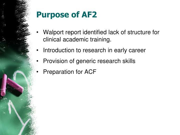 Purpose of AF2