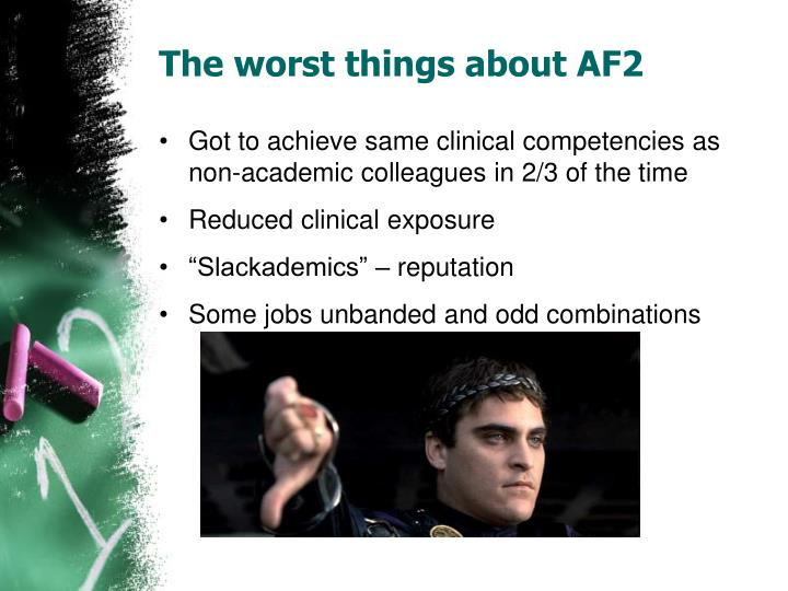 The worst things about AF2