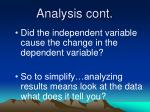 analysis cont
