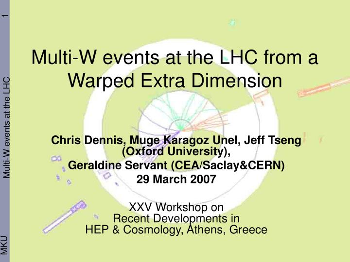 Multi w events at the lhc from a warped extra dimension
