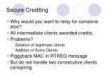 secure crediting
